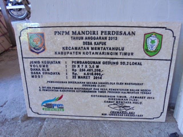 Model Prasasti Marmer PNPM
