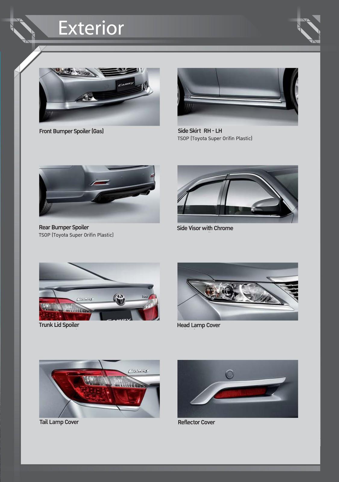 Toyota Camry Accessories >> Toyota Genuine Accessories Toyota Camry Genuine Accessories