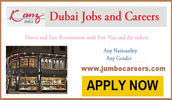 Dubai office jobs for Indians, UAE jwellery jobs with salary,