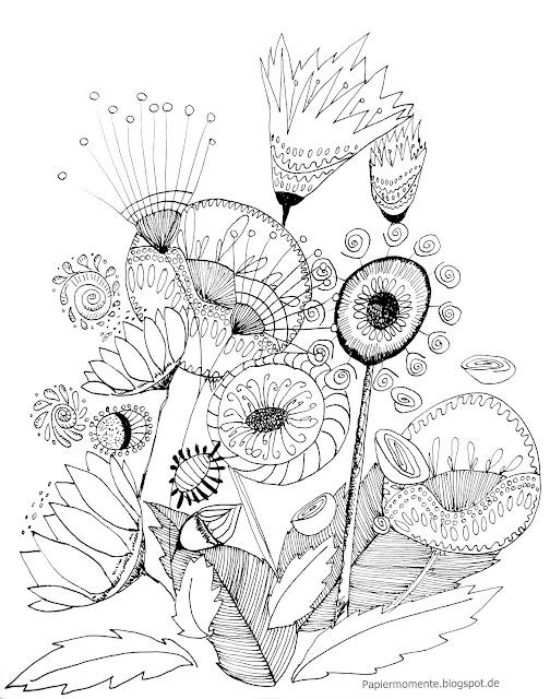 Wiola S Papiermomente Ausmalbild Frühling