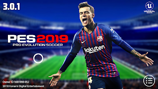 PES 2019 Mobile v3.0.1 Full Kits,Logos Patch Android