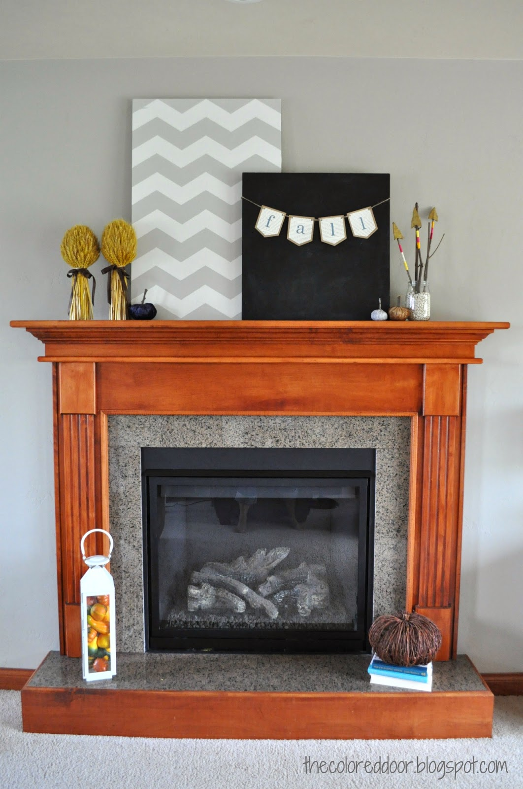 Fall Mantle | the colored door
