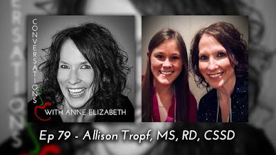 Conversations with Anne Elizabeth Podcast featuring Registered Dietitian Allison Tropf