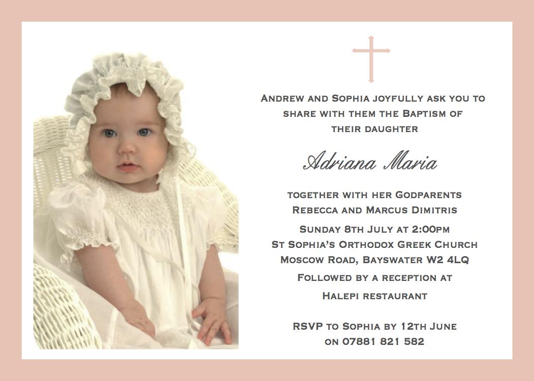 Baptism Announcement Cards