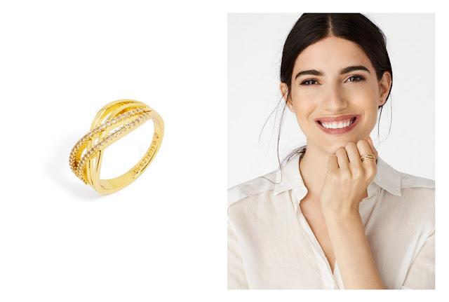 Базовое кольцо с фианитами