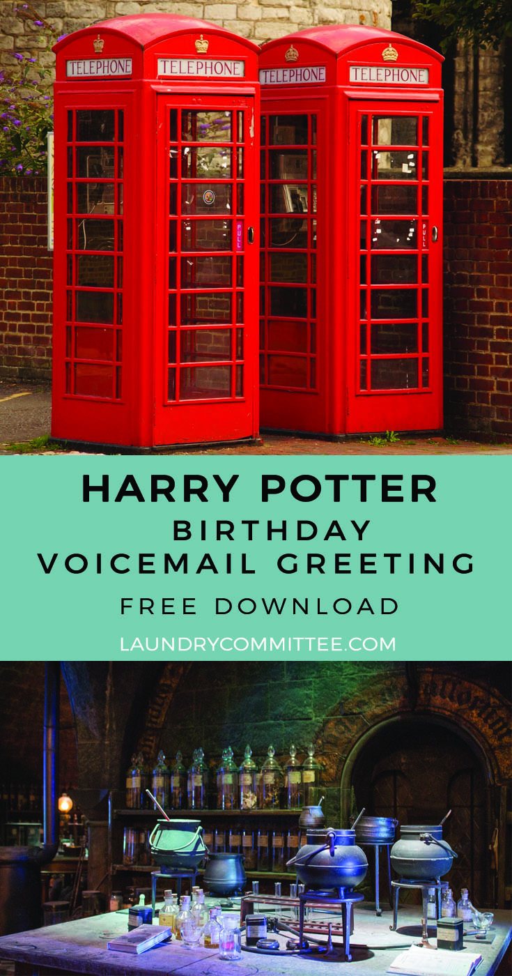 A Very Potter Birthday Voicemail Greeting Free Download Laundry