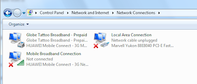 In your Network Connections, you will see more than 2
