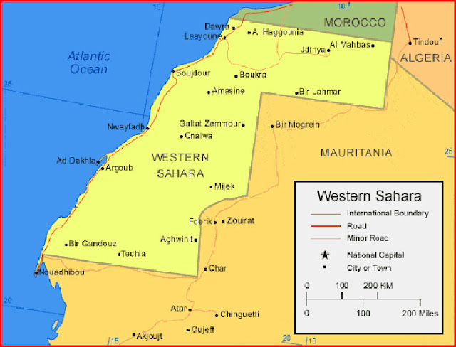 image: Map of Western Sahara