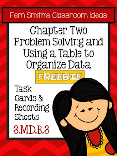 Fern Smith's Classroom Ideas FREE Problem Solving and Using a Table to Organize Data Task Cards, Recording Sheet and Answer Sheet at Teacherspayteachers.