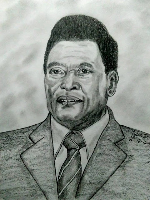 PENCIL DRAWING - PELE