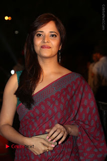 Telugu Television Anchor Anasuya Stills in Saree at Gemini TV Puraskaralu 2016 Event  0051.JPG