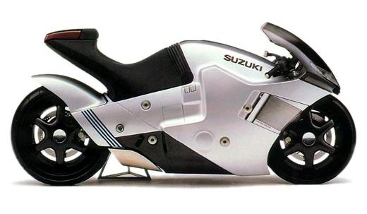 Suzuki Nuda Concept Bike - Pandangan Sisi