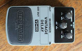 Behringer Vintage Delay Pedal Working VD400