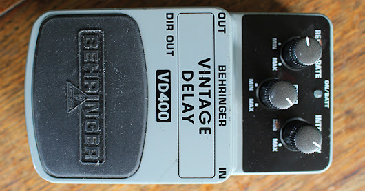 the Big World Blog: Behringer Vintage Delay Pedal Working VD400