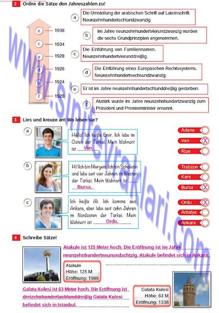 Almanca A1.2 Çıpa Yayınları Çalışma Kitabı Cevapları Sayfa 55