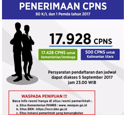 Lowongan CPNS 17.928 Orang Tahun 2017