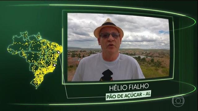 """Morador de Pão de Açúcar/AL,  tem vídeo exibido no telejornal Hora 1,  no quadro """"O Brasil que eu quero"""""""