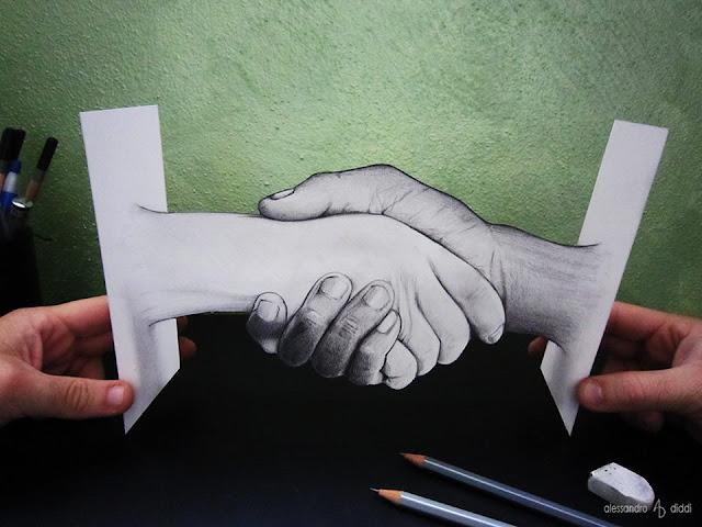 ilusi gambar tiga dimensi yang keren dan menakjubkan serta kreatif-23
