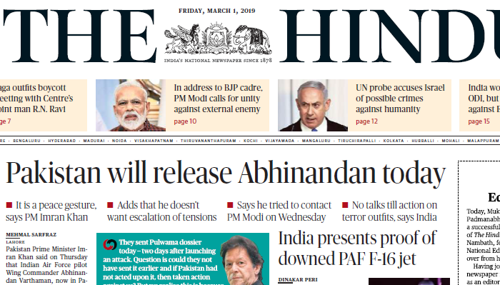 The Hindu ePaper Download 1st March 2019