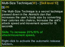 naruto castle defense 6.0 Choji multi size detail