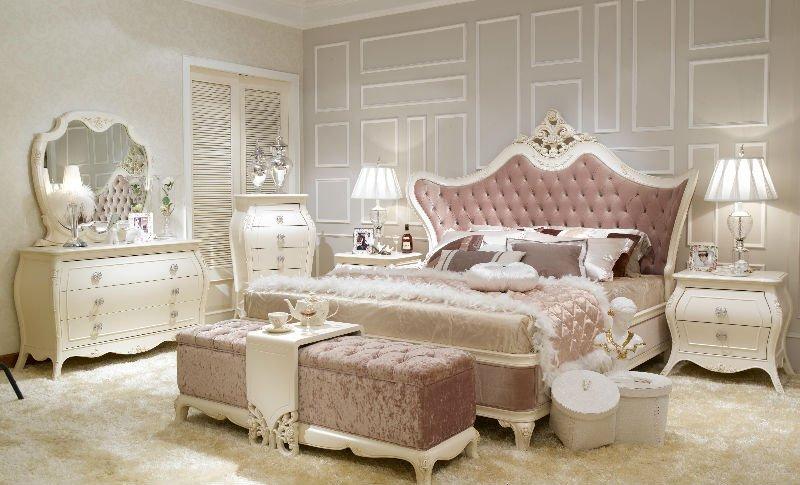 Elegantes muebles de dormitorio blanco for Muebles elegantes