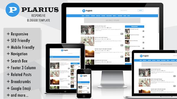 Plarius Responsive Simple Blogger Template
