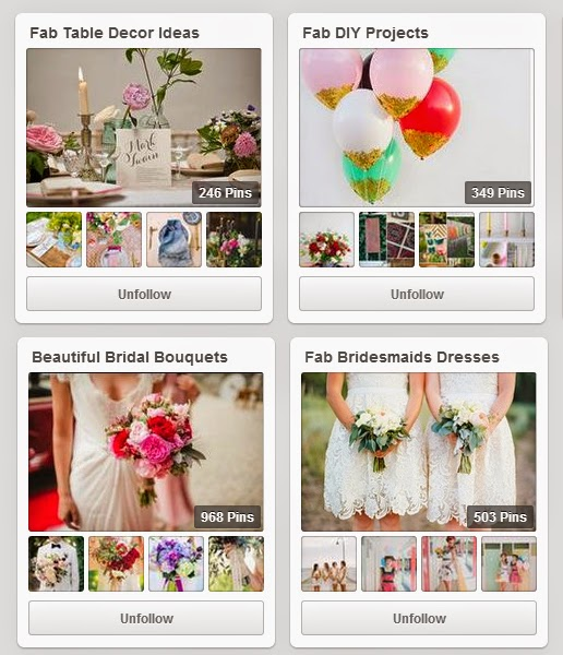 Wedding Pinterest Boards to follow | One Fab Day | DollfaceBlogs