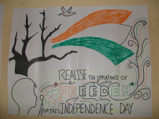 Independence Day drawing for Kids