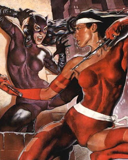 Catwoman and Elektra