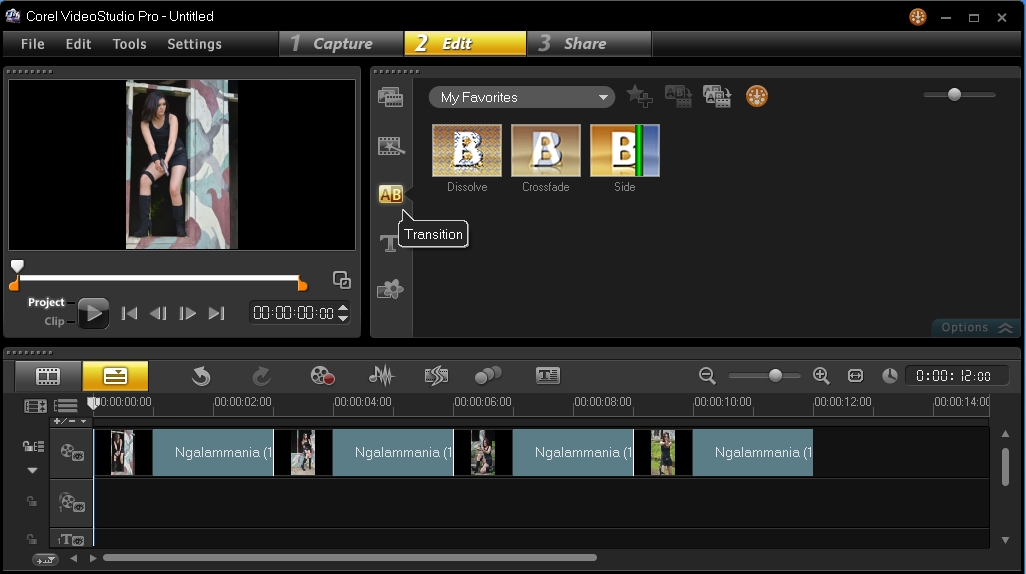 Menambakan Efek Transition Corel Video Studio 2