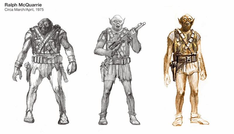 original concept designs of chewbacca
