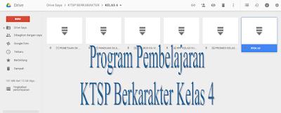 Download KTSP Berkarakter Kelas 4 Model Program Pembelajaran