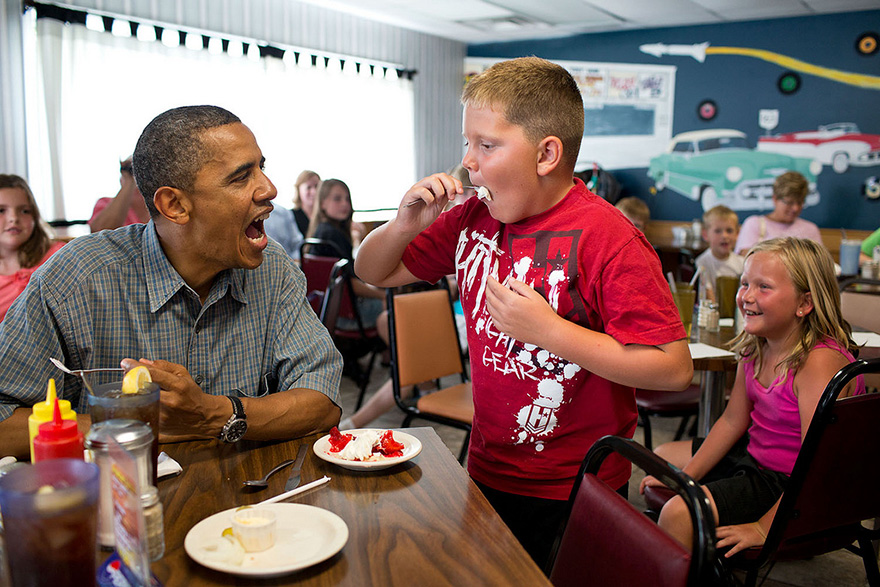 Barack Obama With Kids Wallpapers