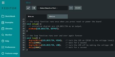 Arduino Create, Web Based IDE