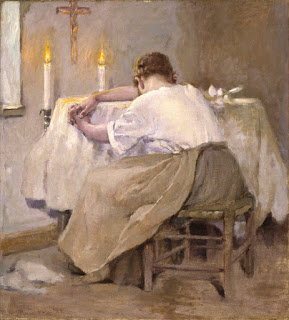 "Robert Reid's painting ""Her First Born"""