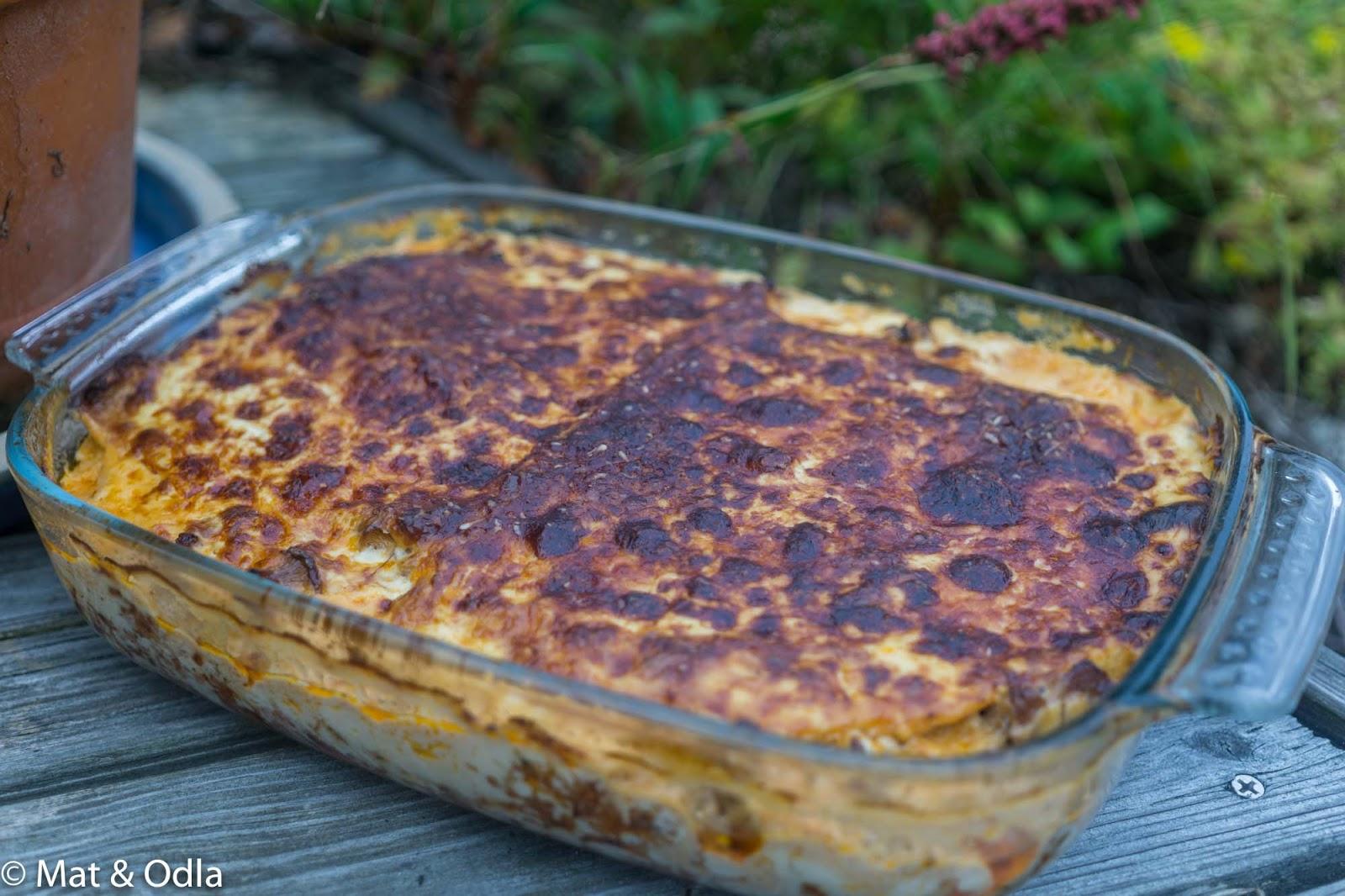 glutenfri omelett i ugn