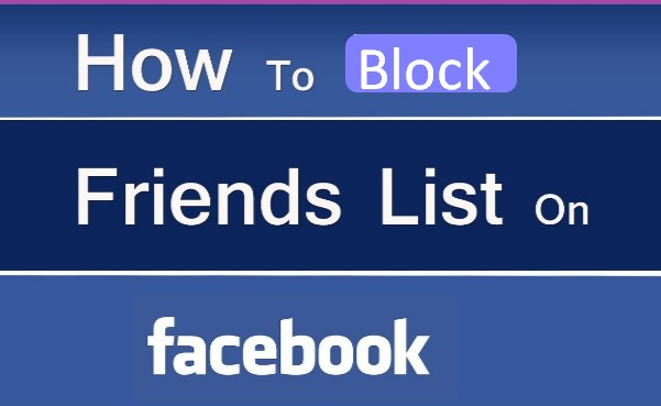 how do block friends list on facebook