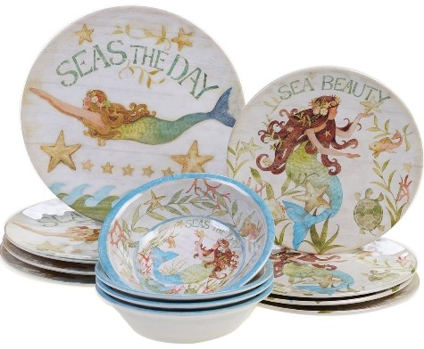Mermaid Dinnerware Plates & Bowls