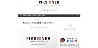 Fiksioner Blogger template