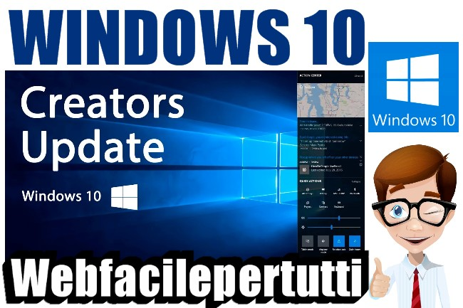 Risultati immagini per Windows 10 Fall Creators Update web facile per tutti