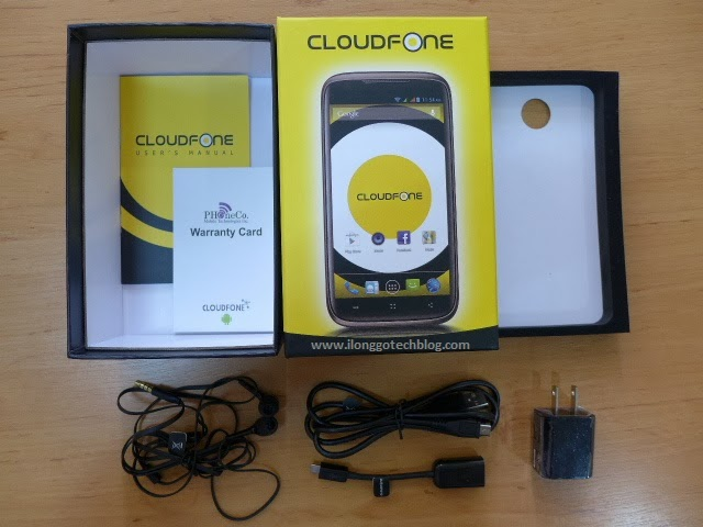 CloudFone Thrill 530QX Retail Box Contents