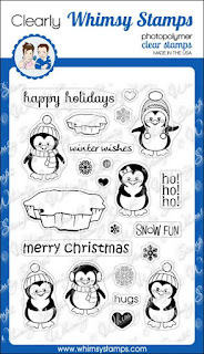 Whimsy Stamps Penguins Winter Adventure
