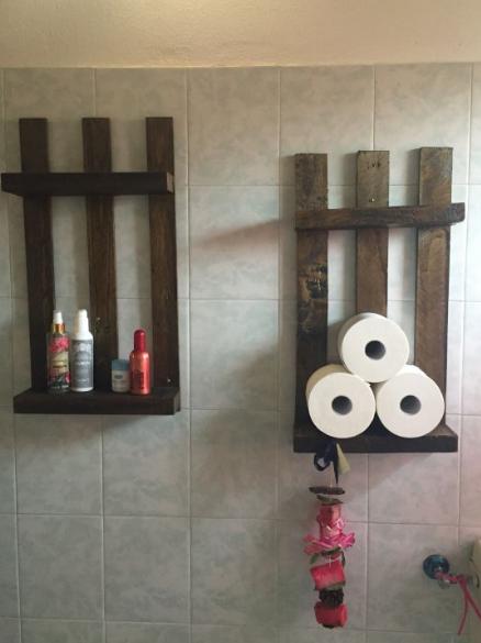 Grissini alla fragola mensole del bagno con bancali e for Mensole con bancali