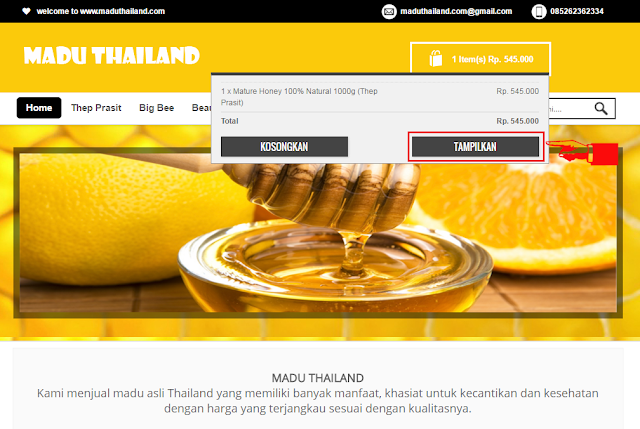 Gambar langkah kedua lanjutan belanja madu