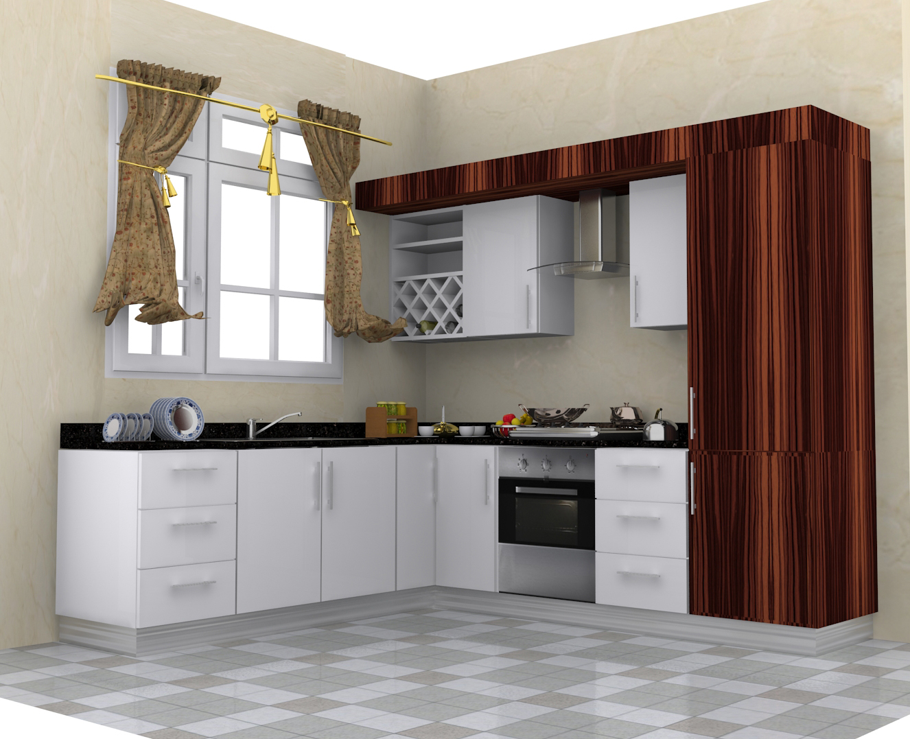 metallic kitchen design for your beautiful flat or villa