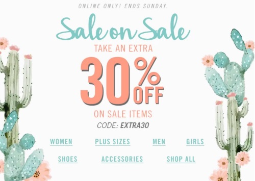 Forever 21 Sale On Sale Extra 30% Off Sale Items Promo Code