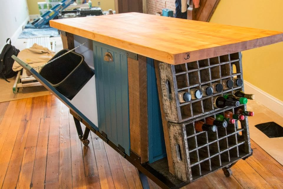 Tales From A Sears House: Industrial Kitchen Island