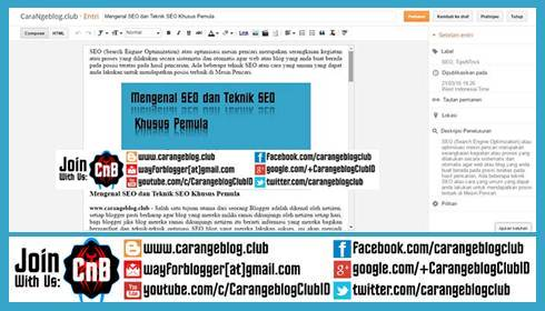 Mengenal Editor Entri Blog dan Fungsinya