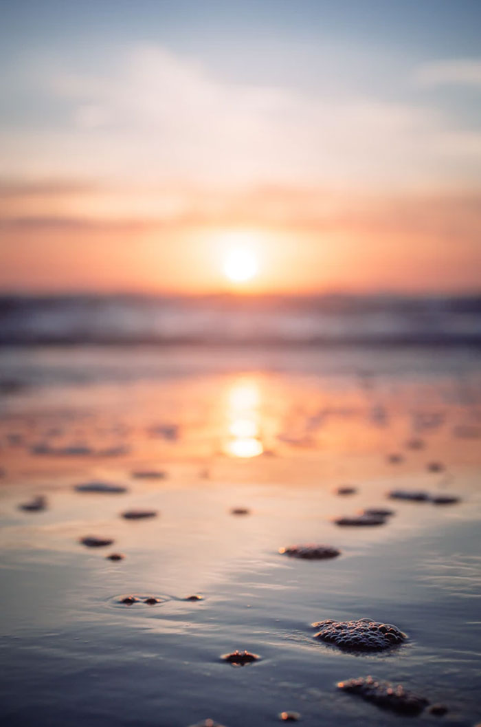 Summer sunset at the beach