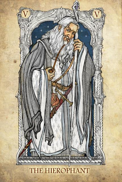Senhor dos anéis em cartas de tarô - O Hierofante